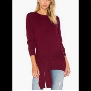 Autumn Cashmere Sz Small Burgundy Wrap Sweater